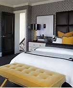 Modern Black House Bright Accents Dramatic The Black And White Bedroom Selflessly Lets The Accent Decor