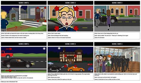 cinematic direction storyboard  sarah