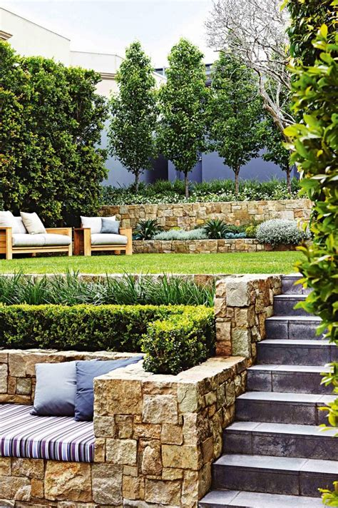 best sloped garden ideas on sloping hill and
