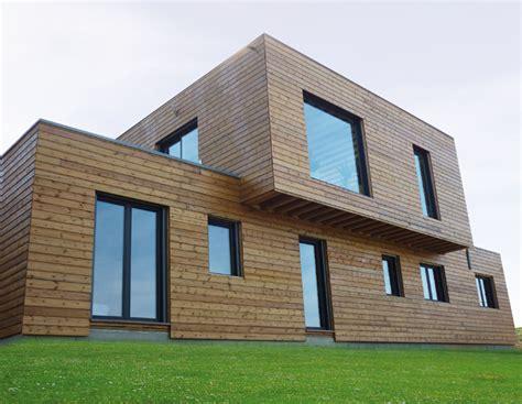 maison ossature bois toit plat prix maison contemporaine a toit plat construite en ossature bois