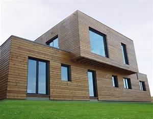 Maison Ossature Bois Toit Plat : maison contemporaine a toit plat construite en ossature bois ~ Melissatoandfro.com Idées de Décoration