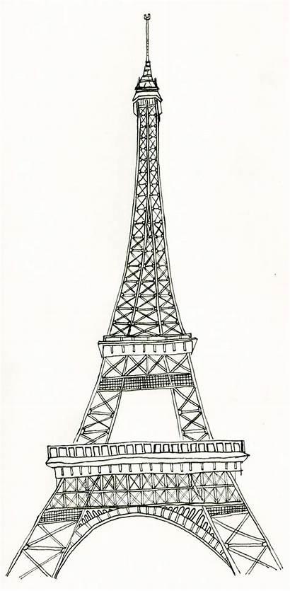 Eiffel Tower Coloring Tour Eiffelturm Ausmalbilder Printable