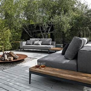 grid centre unit garden sofas from gloster furniture With feuerstelle garten mit bonsai samen set