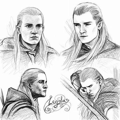Legolas Sketches Deviantart Lotr Fan Hobbit Pages