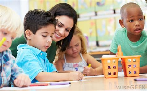 should my child attend summer school with pictures 324 | young children at preschool table with smiling teacher or parent