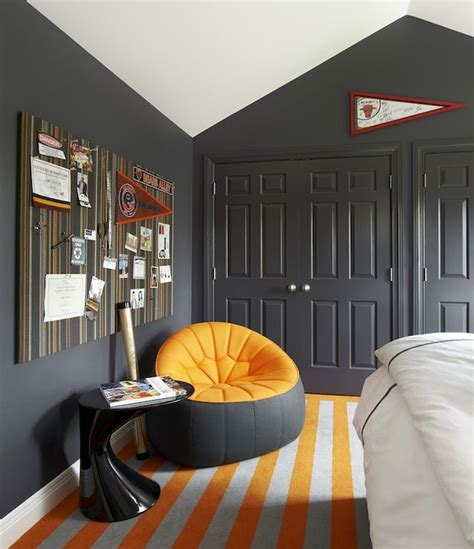 suzanne lovell boys rooms vaulted ceiling charcoal