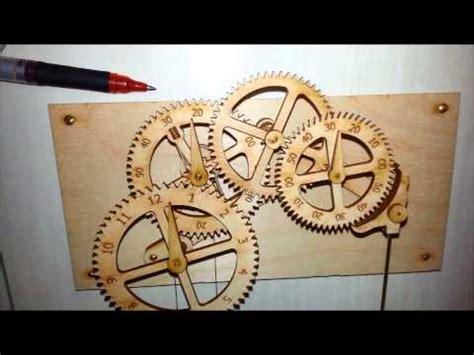wooden gear clock genesis design clayton boyer s quot genesis quot wooden gear clock a quot