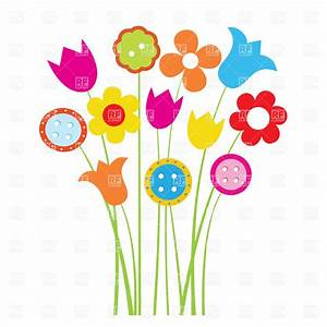 Cartoon Flowers Clipart - Clipart Suggest