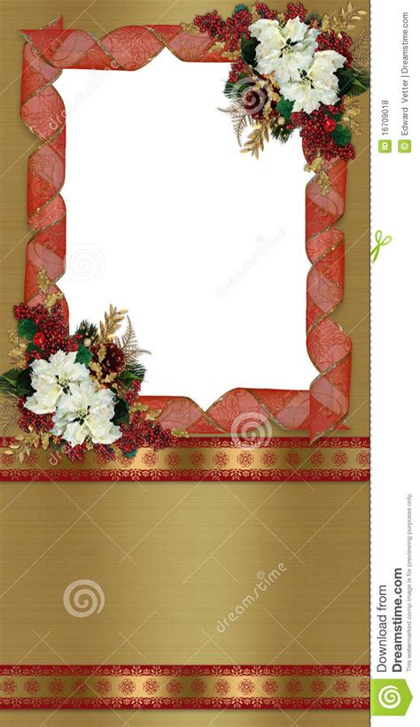 christmas border greeting card royalty  stock