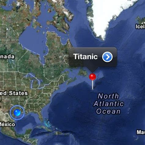 where did the titanic sink titanic map location pictures to pin on pinterest thepinsta