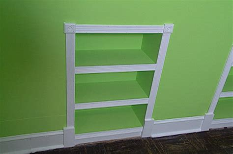 how to build a built in bookcase with doors how to build recessed bookcases hgtv