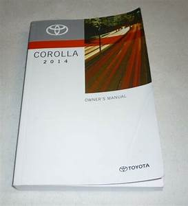 2014 Toyota Corolla Owners Manual Guide 14 Base L S Le Eco