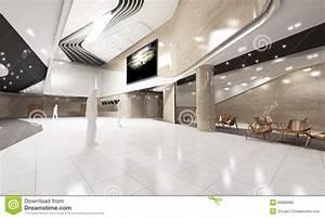 Modern Cinema Lobby Interior Stock Photo - Image: 50680080