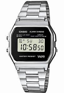 Montre Vintage Casio : montre vintage a158wea 1ef casio argent montres co ~ Maxctalentgroup.com Avis de Voitures
