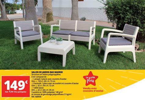 Promotion Auchan Ronq Salon de jardin bas madrid - Produit Maison - Auchan Ronq (Jardin et ...