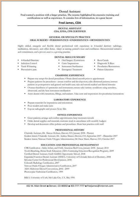 4 dental assistant resume skills worker resume