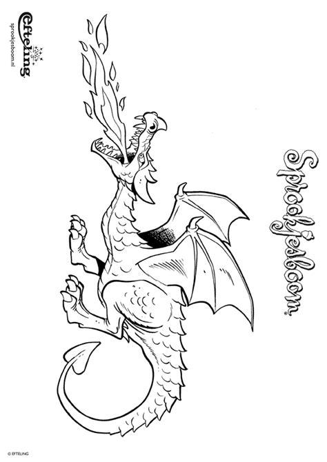 Kleurplaat Elfen Draakjes by Kleurplaat Sprookjesboom Draak Bewaakt Zijn Schat