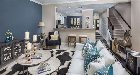 Gray Living Room Blue Kitchen by Homes With Blue Bathrooms Sell For 5 440 More Than