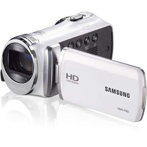 Samsung Hmx-f90 Hd Camcorder (white) Hmx-f90wn/xaa B&h Photo