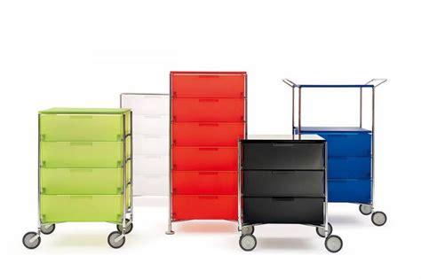 Spécialisée dans les meubles de luxe en plastique et les objets décoratifs, la marque de design la section habitat de kartell est lancée en 1963. Meubles à tiroirs Kartell Mobil, Armoires et caissons en bois, SOLBREUX, Belgique