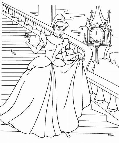Coloring Pages Cinderella Printable Princess Castle Walking