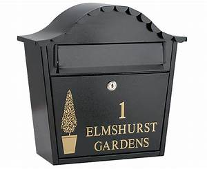Personalised letter box black review compare prices for Personalized letter box
