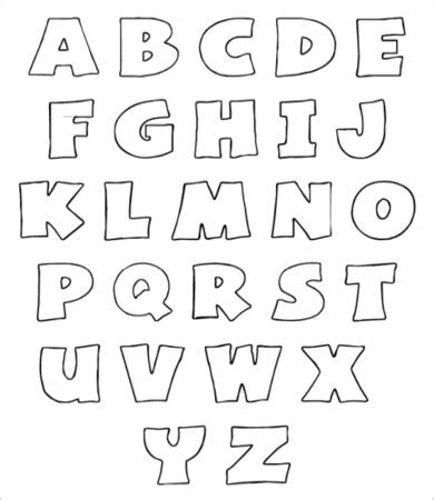 free letter templates free printable alphabet letter 9 free pdf jpeg format 21856 | Free Printable Alphabet bubble Letters