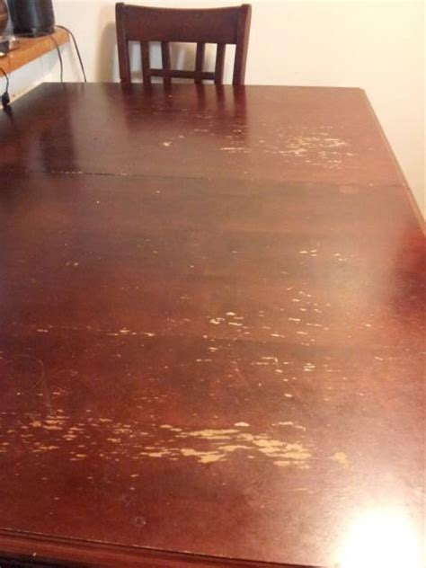 sanding and staining wood table refinishing the dining table doityourself com community