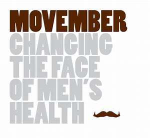 "Movember. The ""C"" word. And the tash that YOU and ME are ..."