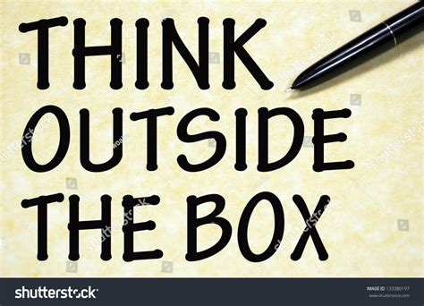 Think Outside Box Title Written Pen Stock Photo 133380197 Diy Wallpaper Removal Vinegar Essential Oil Spray For Hair No Crow Rooster Collar Easy Wedding Table Plans Basketball Hoop Light Baby Infinity Scarf Bib Chain Necklace Tutorial Spider Gwen Costume