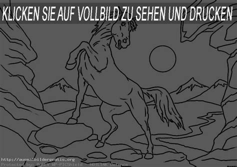 Ausmalbilder Gratis Pferde 1