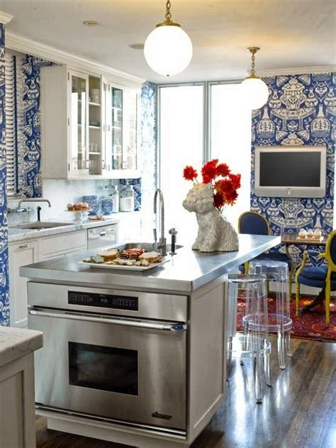 blue  white kitchen designing tips home  cabinet