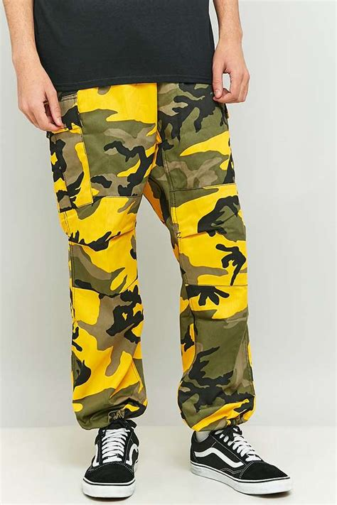 urban renewal vintage surplus rothco stinger yellow camo bdu trousers urban outfitters