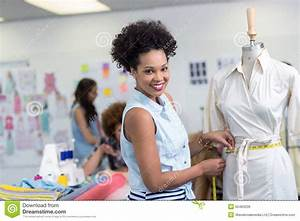 Female Fashion Designer At Work Stock Photo - Image: 50484236