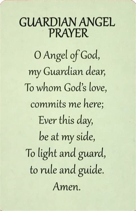 Guardian Prayer by Guardian Wallet Prayer Card The Acts Mission Store