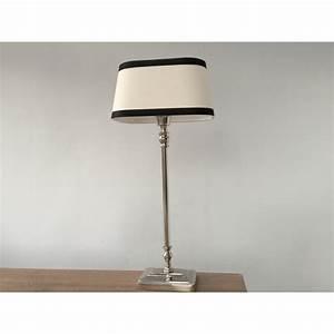 Lampenschirm Schwarz Weiß Gestreift : tischleuchte mit lampenschirm schwarz wei tischlampe verchromt h he 57 cm ~ Indierocktalk.com Haus und Dekorationen