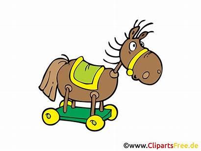 Clipart Schaukelpferd Kindergarten Gratis Horse Grafik Bild
