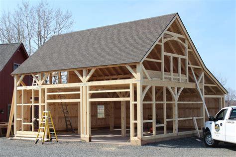 building process post  beam barns  barn yard