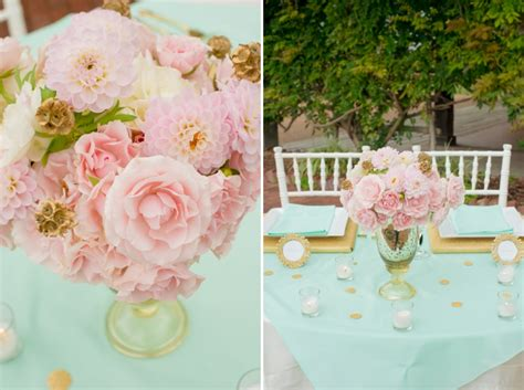 Pink Mint & Gold Wedding Inspiration Every Last Detail