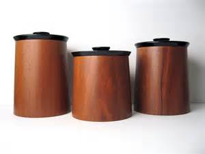 wooden canisters kitchen modern walnut wood canister container set by gladmark