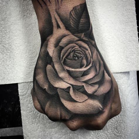 rose tattoo rose skull handtatz
