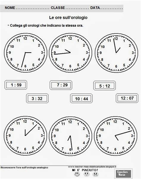 maia il della maestra maia imparare a leggere l orologio analogico link e schede