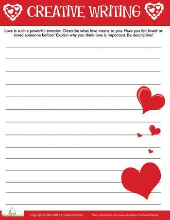 valentine s day creative writing 3 valentines creative