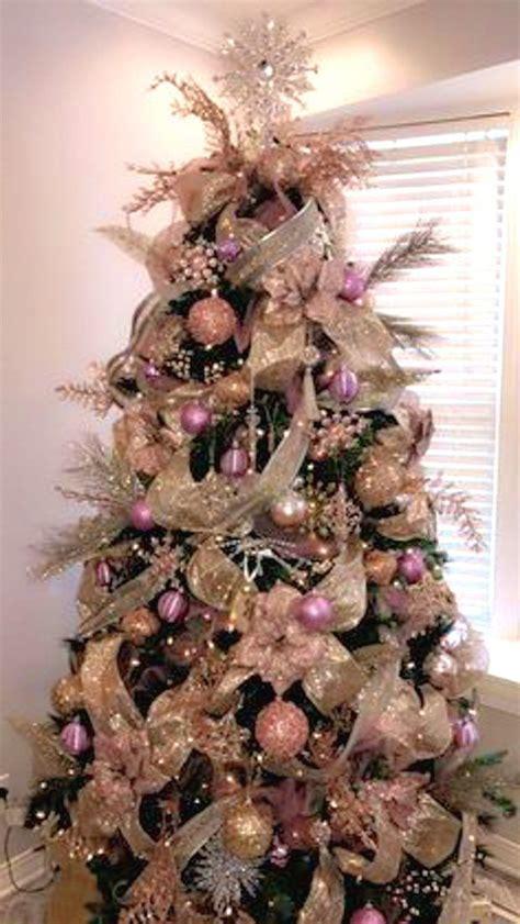 unique pink christmas tree ideas  pinterest pink