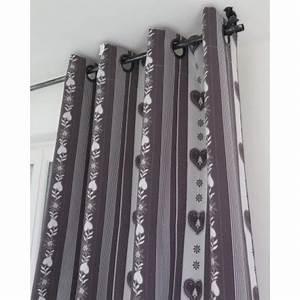 Rideaux Prêts à Poser : pr t a poser jacquard forclaz fond gris motif blanc gilles tissus ~ Teatrodelosmanantiales.com Idées de Décoration