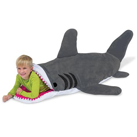 The Shark Bait Sleeping Bag  Hammacher Schlemmer