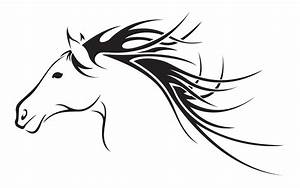 Fast Horse Head Clipart - The Cliparts