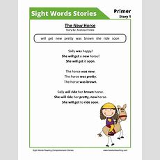 Reading Comprehension Worksheet  The New Horse
