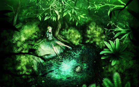 Green Anime Wallpaper - anime anime green hair wallpapers hd desktop and