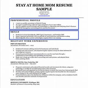 Stay at home mom resume sample writing tips resume for How to write stay at home mom on resume